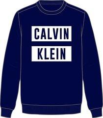 calvin klein heren sweater pullover - logo blauw