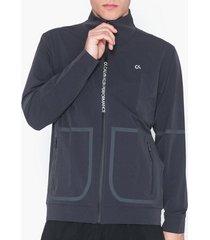 calvin klein performance track jacket träningsjackor gunmetal