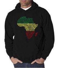 la pop art men's countries in africa word art hooded sweatshirt