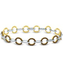 le vian red carpet diamond link bracelet (2-5/8 ct. t.w.) in 14k gold & white gold