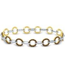 le vian red carpet diamond link bracelet (2-5/8 ct. t.w.) in 14k gold & white gold