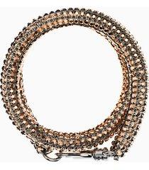 braccialetto skinny double bolster, placcatura in palladio