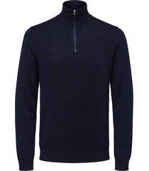 trui half zip donkerblauw