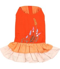 parisian pet color block garden dog dress