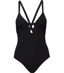 active deep ''''v'''' maillot baddräkt badkläder svart seafolly
