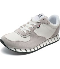 tenis blanco-gris tommy hilfiger