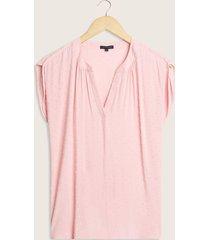 blusa manga sisa con textura-l