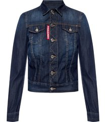 stitching details denim jacket