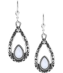 american west mother of pearl teardrop dangle earrings