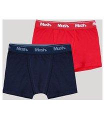 kit de 2 cuecas infantis mash boxer multicor