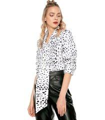 blusa blanco-negro glamorous