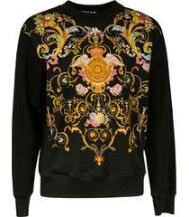 versace jeans couture printed sweatshirt