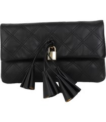marc jacobs black leather clutch