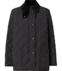 burberry diamond quilted thermoregulated barn jacket - black