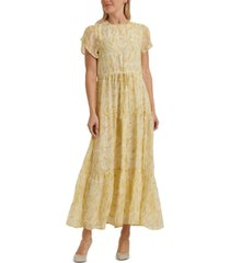 lucky brand ariel paisley-print tiered dress