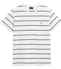 gant t-shirt streep ecru