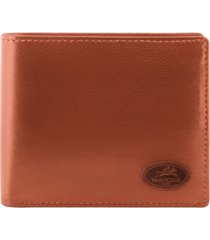 mancini manchester collection men's rfid secure center wing wallet