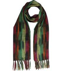 saint laurent ikat pinceu scarf