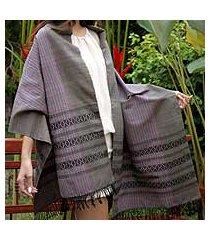 cotton shawl, 'earth symphony' (thailand)