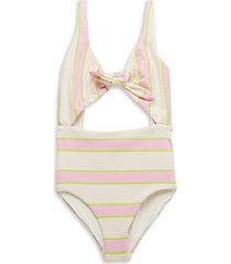 kylie striped one-piece swimsuit