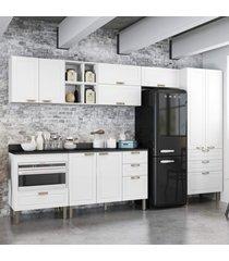 cozinha completa 10 peã§as americana multimã³veis 5658mf branco - branco/incolor - dafiti
