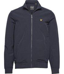 zip through funnel neck soft shell jacket tunn jacka blå lyle & scott