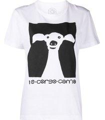 10 corso como dog-print short-sleeved t-shirt - white