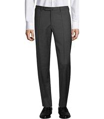 matty straight-fit micro check wool trousers