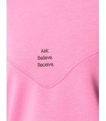 merci pink sweatshirt in modal blend with print