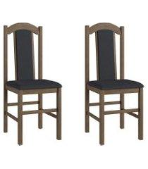 conjunto de cadeiras móveis canção 500 2 pçs madeira fosco