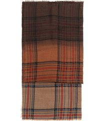 etro degradé tartan wool scarf