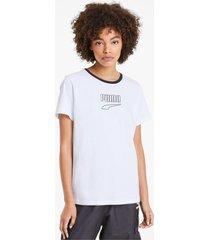 downtown edge t-shirt, wit/aucun, maat m   puma
