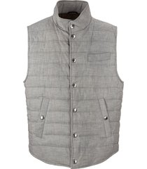 cotton lightweight down vest brunello cucinelli