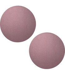 kit 2pçs d'rossi sousplat para prato suporte de mesa decorativo rose poá 30 cm