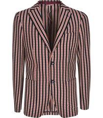 etro stripe patterned 2 buttoned blazer