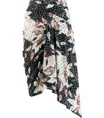 isabel marant roly printed stretch skirt - black