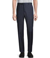 zanella men's wool dress pants - navy - size 42