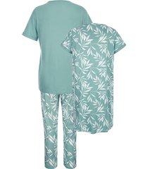 pyjamas & nattlinne blue moon jade::mint::benvit