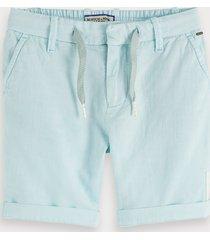 scotch & soda cotton-linen shorts keoni