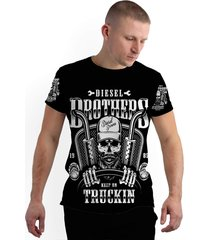 camiseta stompy new collection diesel brothers preto - kanui