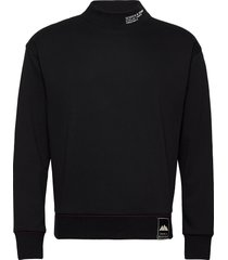 clean felpa sweat with high rib collar sweat-shirt trui zwart scotch & soda