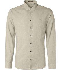 no excess shirt 2 coloured linen khaki