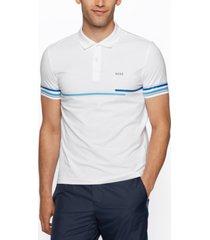 boss men's stretch-cotton slim-fit polo shirt