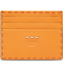 fendi business card holder - orange