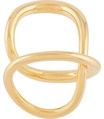 charlotte chesnais ribbon twist ring - gold