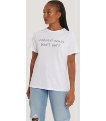 na-kd reborn oversized t-shirt med tryck - white