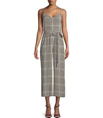 jaelyn silk houndstooth jumpsuit