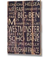 big ben - drewniana tablica z napisem
