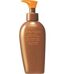 gel autobronzeador shiseido brilliant bronze quick self-tanning 150ml