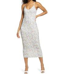 women's afrm amina sleeveless midi dress, size x-large - pink